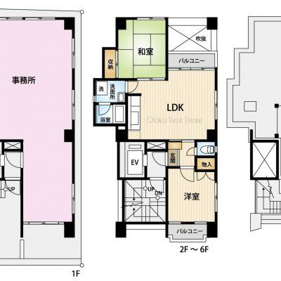 平面図(1階~6階)