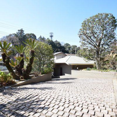 石畳が美しい庭
